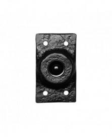 Beldrukker rechthoekig 45x78mm smeedijzer zwart