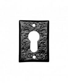 Cilinderrozet 70x50mm smeedijzer zwart