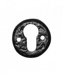 Cilinderrozet 50mm smeedijzer zwart