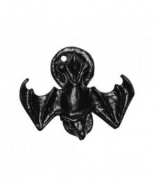 Deurklopper vleermuis 76x89mm smeedijzer zwart