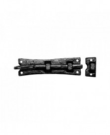 Deurschuif met krul 152x46mm smeedijzer zwart