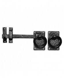 Klinkstel met ring 220mm/ lichter 180mm smeedijzer zwart