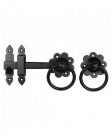 Klinkstel met ring 152mm smeedijzer zwart