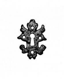 Sleutelrozet 82x60mm smeedijzer zwart