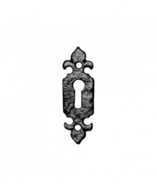 Sleutelrozet 80x26mm smeedijzer zwart