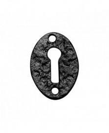 Sleutelrozet ovaal 45x34mm smeedijzer zwart