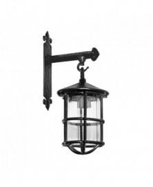 Lamp op wandconsole 203x114mm smeedijzer zwart