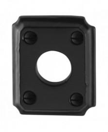 GPF Rozet rechthoekig 59x48x6mm links/ rechts smeedijzer