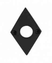 GPF Rozet ruit 83x52x4mm links/ rechts smeedijzer