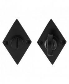 GPF Toiletgarnituur ruit 83x52x4mm stift 8mm smeedijzer