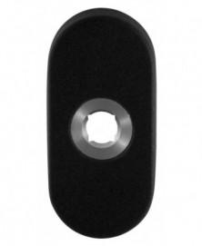 GPF Ovale click rozet 70x32x10 mm rechts zwart
