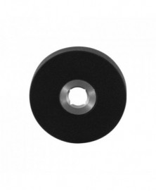 GPF Ronde click rozet 50x6mm rechts zwart