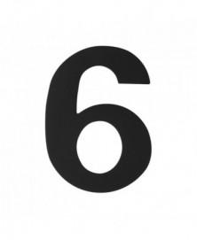 GPF Huisnummer 6/ 150mm zwart