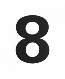 GPF Huisnummer 8/ 150mm zwart