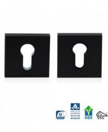 GPF Vierkante veiligheidsrozet 55x55x10mm SKG*** zwart