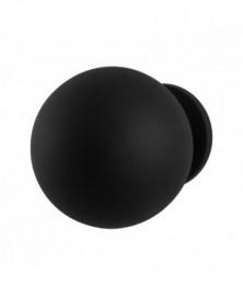 GPF Kogel voordeurknop 100 mm op rozet 70 mm zwart