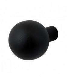 GPF Kogel knop 50mm tbv VH-schilden vast incl. wisselstift zwart