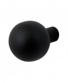 GPF Kogel knop 50mm tbv VH-schilden vast incl. bout M10 zwart