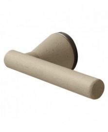 Mandelli Juno zand deurkruk op ronde rozet Zand