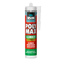 Bison Poly Max Lijmkit Express 300gr Crystal clear
