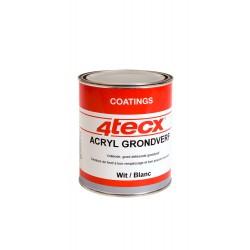 4Tecx Grondverf Acryl Wit 750ml