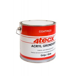 4Tecx Grondverf Acryl Grijs 2,5L