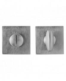 Mandelli Toiletgarnituur/vierkant Satinchrome
