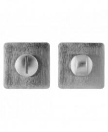 Mandelli Toiletgarnituur/ vierkant Satinchrome