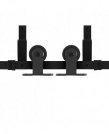 GPF Schuifdeursysteem Osa zwart dubbel 220 cm