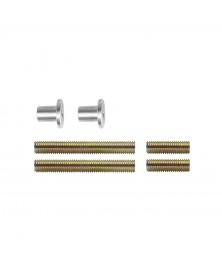 Bevestigingsset H doorgaand enkelzijdige montage voor hout / pvc / alu. deurdikte25-65mm