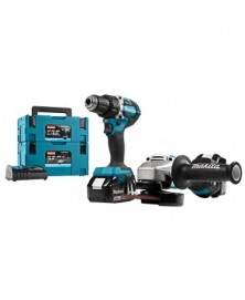 Makita accumachine set dlx2190tj1 18v 2x5ah