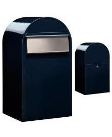 Bobi Grande B RAL 5004 zwartblauw + RVS klep