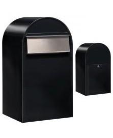 Bobi Grande B RAL 9005 zwart struktuur + RVS klep