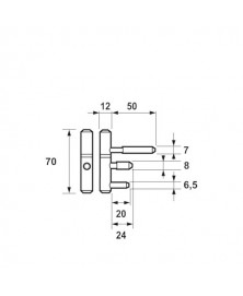 AXA inboorpaumelle 1177 H70 2 stuks