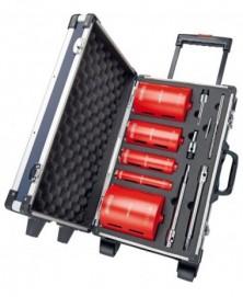 Carat droogboorset ø32-52-82-112-132+adapters+koffer