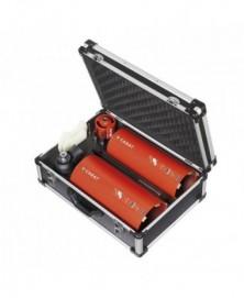 Carat droogboorset ø82-132-162+dustec+adapters+alu koffer