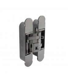 Scharnier 160 x 32 mm zamak – nikkel 3D verstelbaar