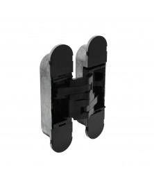 Scharnier 130 x 30 mm zamak – zwart 3D verstelbaar