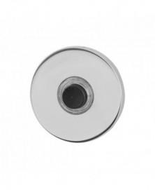 GPF Beldrukker rond 50x6mm met zwarte button