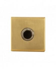 GPF Beldrukker vierkant 50x50x8mm met zwarte button