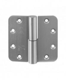 GPF GPF0351.09 GPF paumelle 89x96 RVS DIN LS ronde hoek Draagvermogen (bij 2 stuks) 80 kg Voorzien van hardstalen kogel