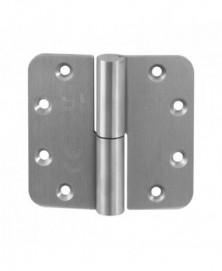 GPF GPF0351.09 GPF paumelle 89x96 RVS DIN RS ronde hoek Draagvermogen (bij 2 stuks) 80 kg Voorzien van hardstalen kogel