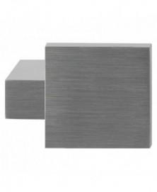 GPF Massief kort verkropte knop vierkant 69/ 48x48x13mm tbv VH-schilden vast incl. wisselstift