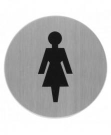 GPF Pictogram 'Dames' rond 75mm zelfklevend