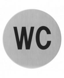 GPF Toiletbord 'WC' rond 75mm zelfklevend
