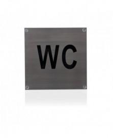 GPF Toiletbord 'WC' vierkant 125x125mm geschroefd
