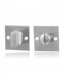 GPF Vierkante toiletgarnituur 50x50x2mm stift 8mm grote knop