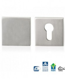 GPF Vierkante veiligheidsrozet 55x55x10mm SKG*** buiten blind