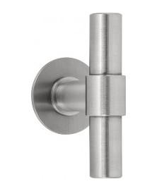 Formani ONE glasdeurknoppen op rozet PBT100G mat RVS