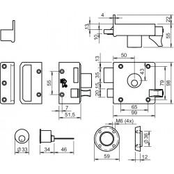 LIPS Oplegslot 1754-50mm Los D1 SKG** afmetingen